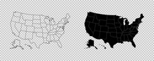 United States Map. High Detail...