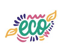 Eco Icon Design. Ecology Logo With Leaf On White Background. Vector Illustration.