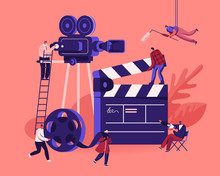 Movie Making Process Concept. ...