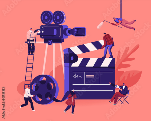 Movie Making Process Concept Wallpaper Mural