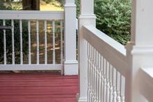 Wood White Porch Railing