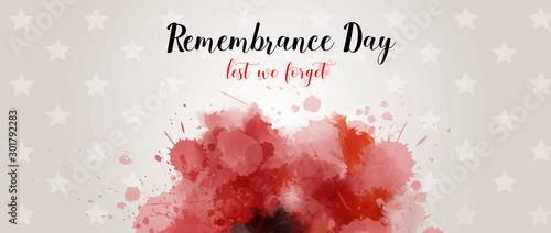Pinturas sobre lienzo  Remembrance day background with watercolor painted poppy.