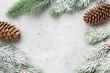 Leinwanddruck Bild - Christmas card with fir tree