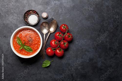 Cold gazpacho soup Canvas Print