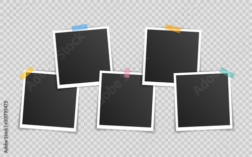 Obraz na plátně Vector Photo frame mockup design
