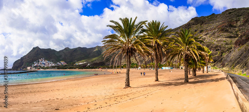 Best beaches of Tenerife island - beautiful Las Teresitas, Canary islands of Spain