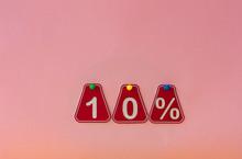 Ten Percent Off Discount - Price Tag