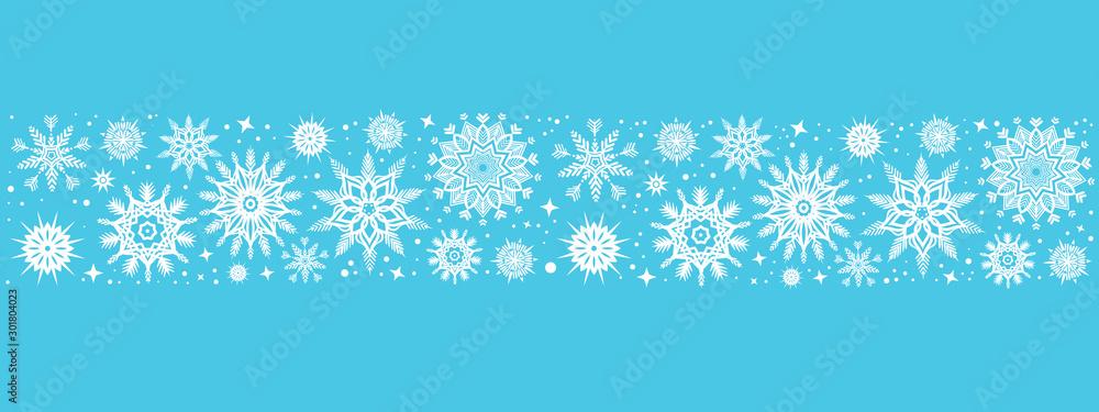 Fototapeta Christmas background with snowflakes