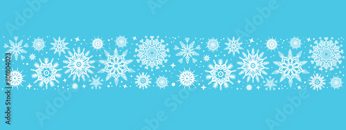 Fotomural  Christmas background with snowflakes