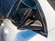 Side mirror of the car when folded