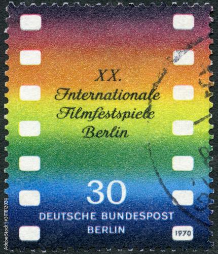 Obraz na plátně GERMANY - 1970: shows Film, The 20th annual Berlin International Film Festival,