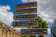 Street Signs In The Paris