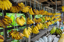 Bunch Of Bananas In Market