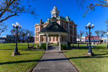 Historic Wharton County Courthouse Built In 1889 And Town Square In Wharton City In Wharton County In Southeastern Texas, United States