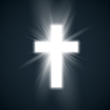 White Cross With Glow Symbol O...