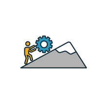 Persistence Icon. Simple Element From Soft Skills Icons Collection. Creative Persistence Icon Ui, Ux, Apps, Software And Infographics