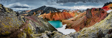 Panoramic View Of Colorful Rhy...