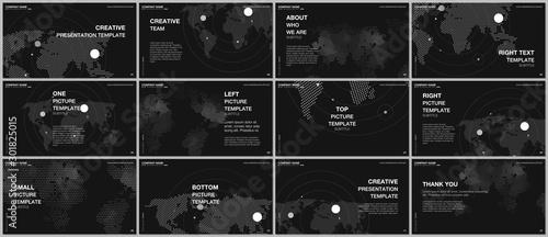 Obraz na plátně  Presentation design vector templates, multipurpose template for presentation slide, flyer, brochure cover design, report presentation