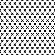 Black Cross Pattern On A White Background. Vector Illustration