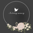 In loveing memory illustration for funeral event