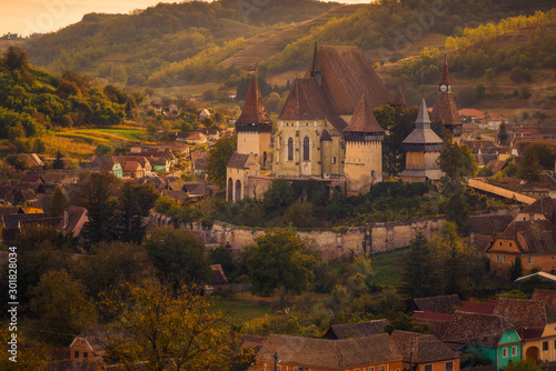 Fototapety, obrazy: Historical monument the fortified church of Biertan visited by tourists located in Romania