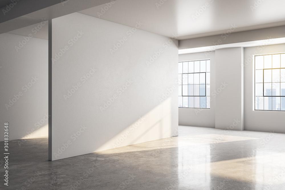 Fototapety, obrazy: Modern concrete gallery interior