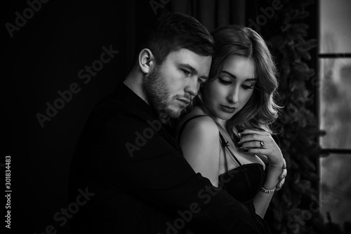 Concept of relationship among men and women. Psychology photo of couple