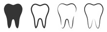 Vector Tooth Icons Set.