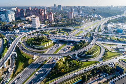 Fototapeta Москва, автомобильная развязка на МКАД и Ленинградском шоссе obraz