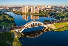 Moscow Region, Khimki, Top View Of The Khimki Bridge