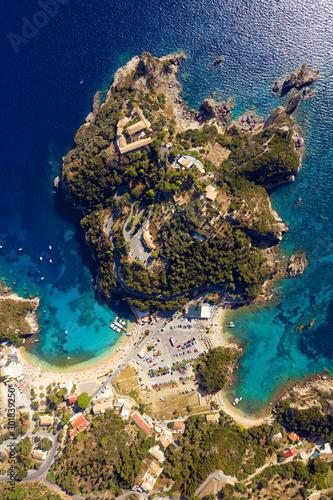 Aerial mediterranean landscape