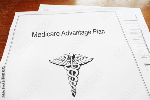 Medicare Advantage Healthcare document Wallpaper Mural