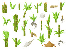 Sugar Cane Cartoon Vector Illu...