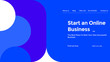 Abstract Vector Colorful Landing Page Template With Geometric Shapes