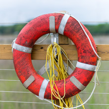 Life Preserver At A Dock Overl...