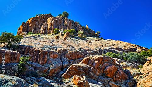 Foto auf Leinwand Dunkelblau Rock Formations