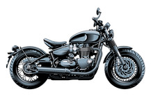 Bobber Or Chopper Motorcycle, ...