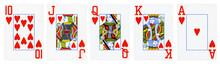 Hearts Suit Playing Cards, Set...