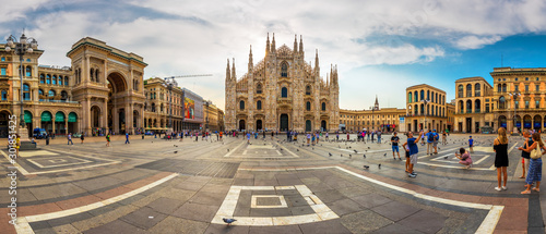 Photo Cathedral Duomo di Milano and Vittorio Emanuele gallery in Square Piazza Duomo a