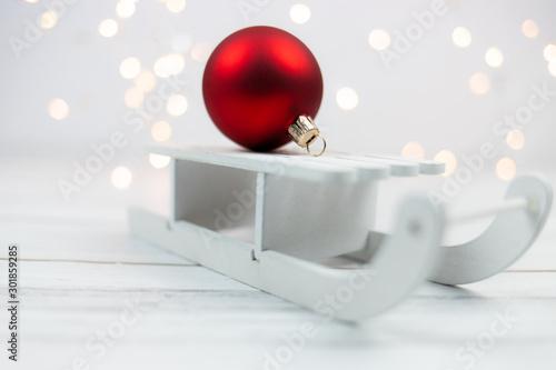 Fototapeta Sanie i dekoracja świąteczna obraz