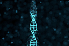 DNA Particles And Diffused Glo...