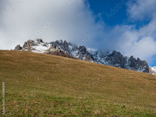 Autumn colors in the italian alps on Grigna mountain