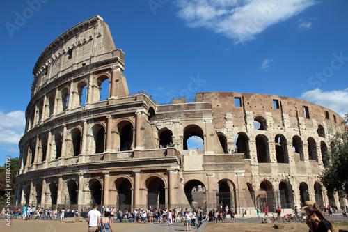 Fotografie, Tablou  colosseum in rome italy