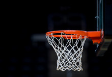 Basketball Hoop Isolated On Bl...
