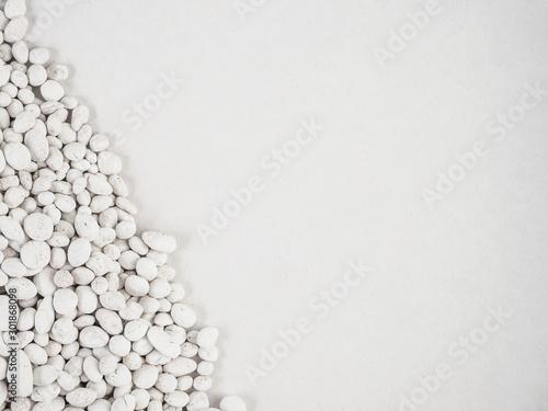 white stone on white background