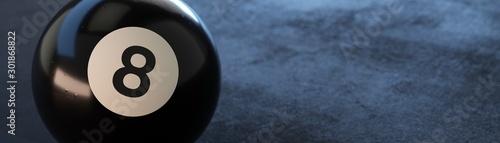 Fotografie, Obraz Ball 8 banner on dark background.