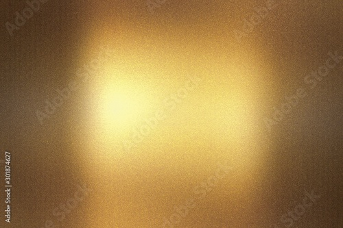 Glowing dark brown foil metallic wall with scratched surface, abstract texture b Canvas Print
