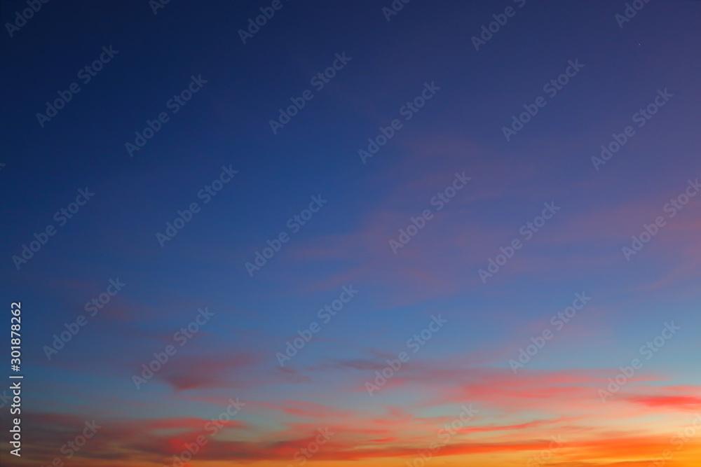 Fototapety, obrazy: beautiful twilight sky background