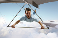 Extreme Hang Glider. Mixed Media