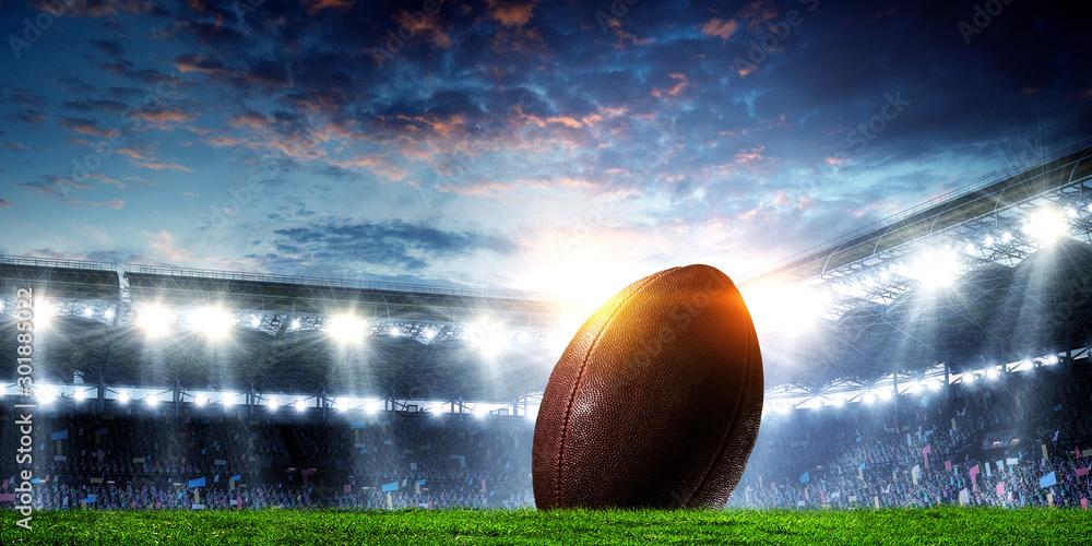 Fototapety, obrazy: American football arena. Mixed media